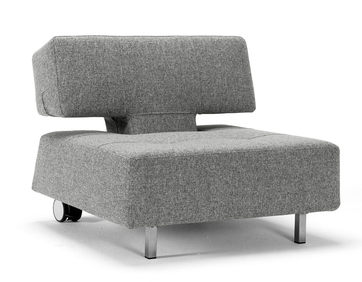 relax sessel mit rollen ohne armlehnen in grau ross. Black Bedroom Furniture Sets. Home Design Ideas