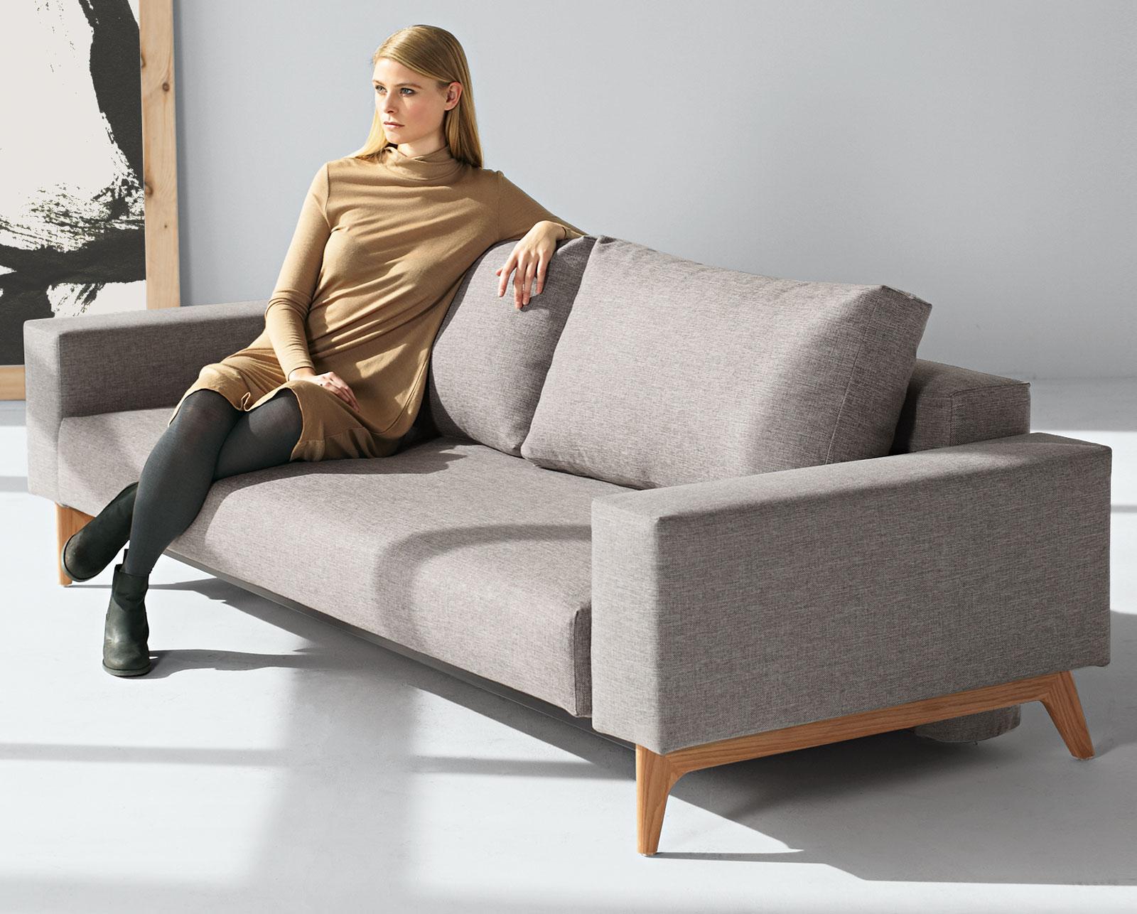 designer schlafsofa mit federkern und bettkastentuch derby. Black Bedroom Furniture Sets. Home Design Ideas
