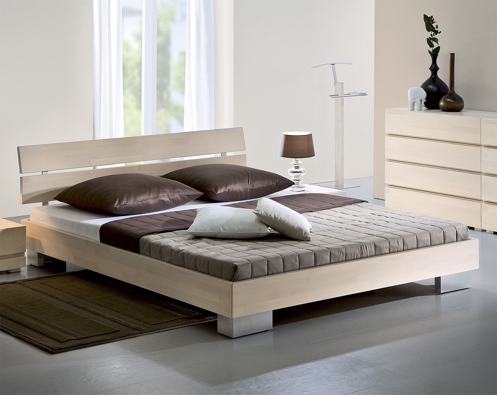 bett in z b 90x200 cm gr e aus buchenholz sogno. Black Bedroom Furniture Sets. Home Design Ideas