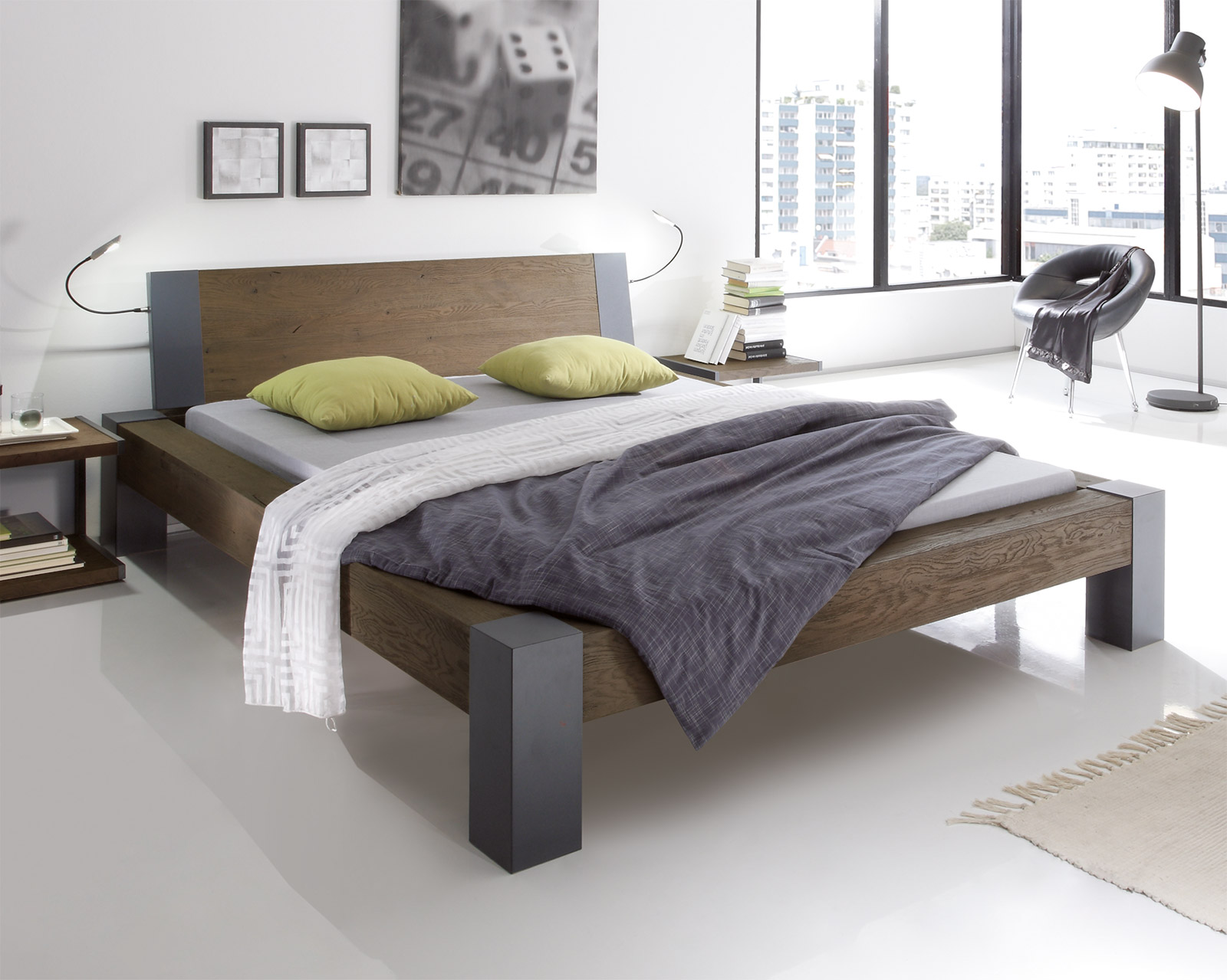 Bett Aus Wildeiche In Z B 160x200 Cm Serio Betten De