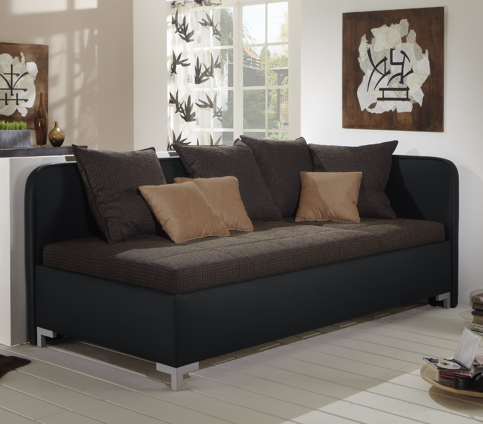 studioliege mit bettkasten z b mit lattenrost matratze anteo. Black Bedroom Furniture Sets. Home Design Ideas