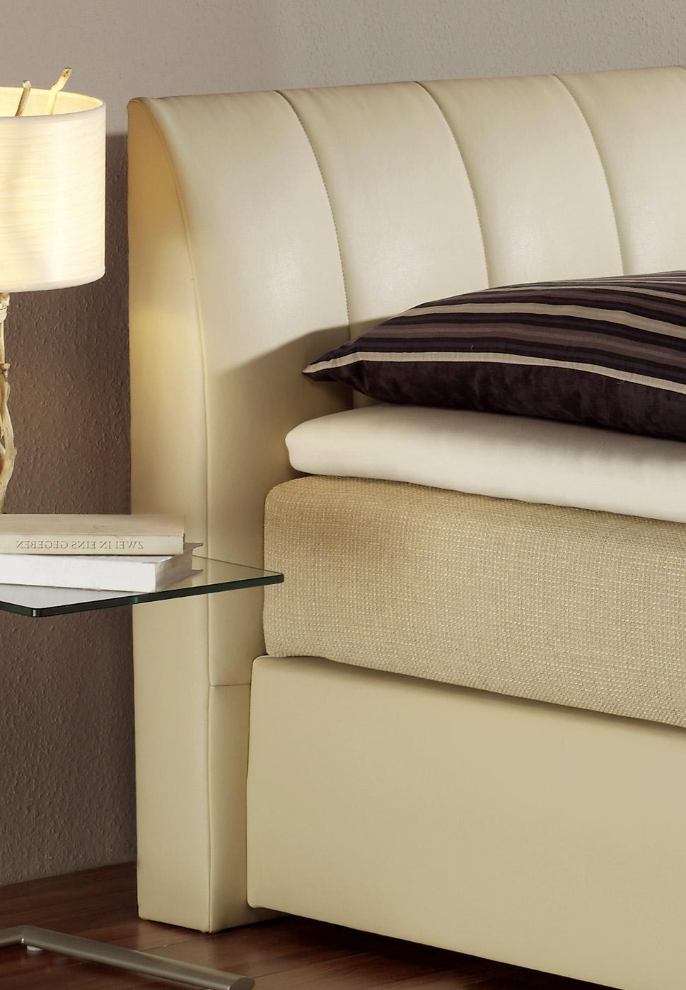 bett mit spring box und kunstlederbezug boxspringbett sydney. Black Bedroom Furniture Sets. Home Design Ideas