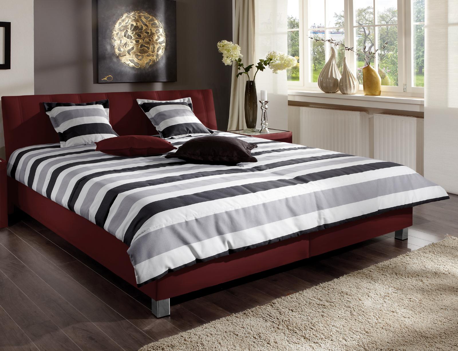 tolle tagesdecke f r ihr polsterbett in wei grau remigio. Black Bedroom Furniture Sets. Home Design Ideas