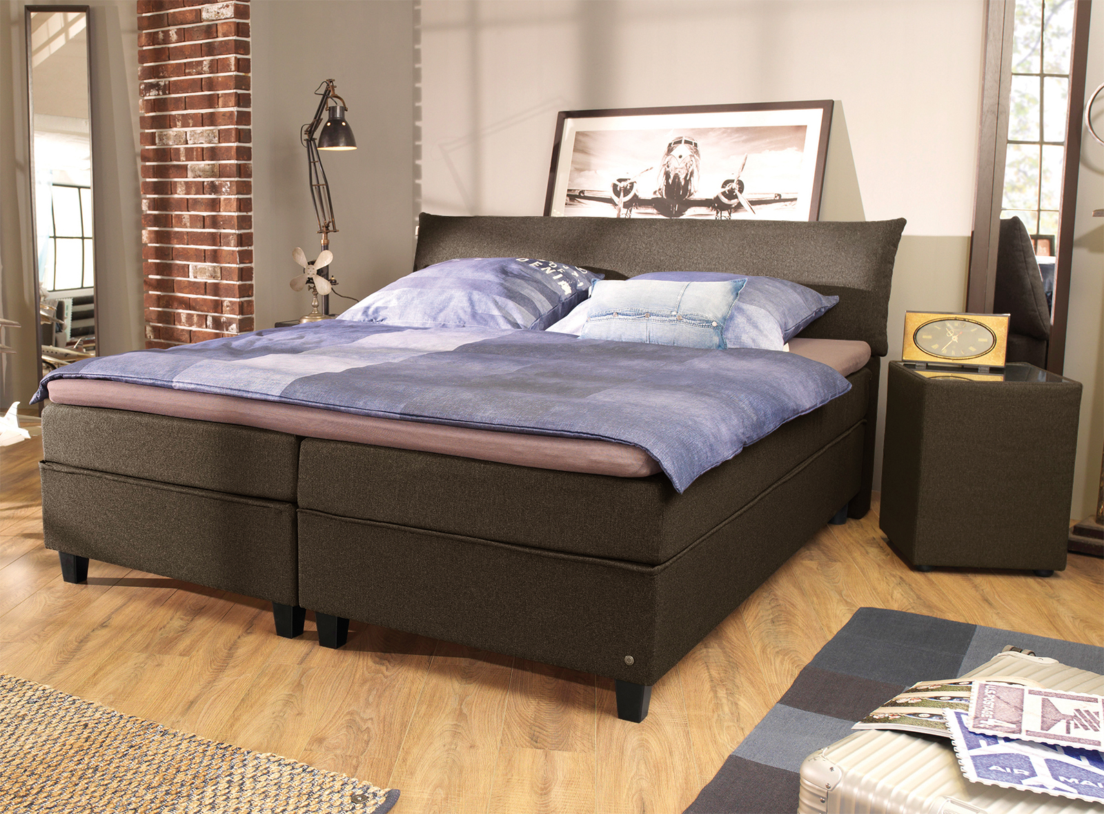 modernes tom tailor color design boxspringbett mit kopfteil. Black Bedroom Furniture Sets. Home Design Ideas