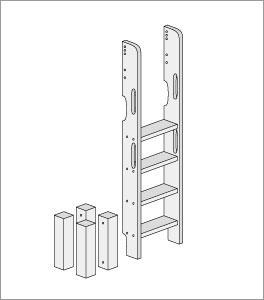 Umbau zum Etagenbett mit gerader Leiter
