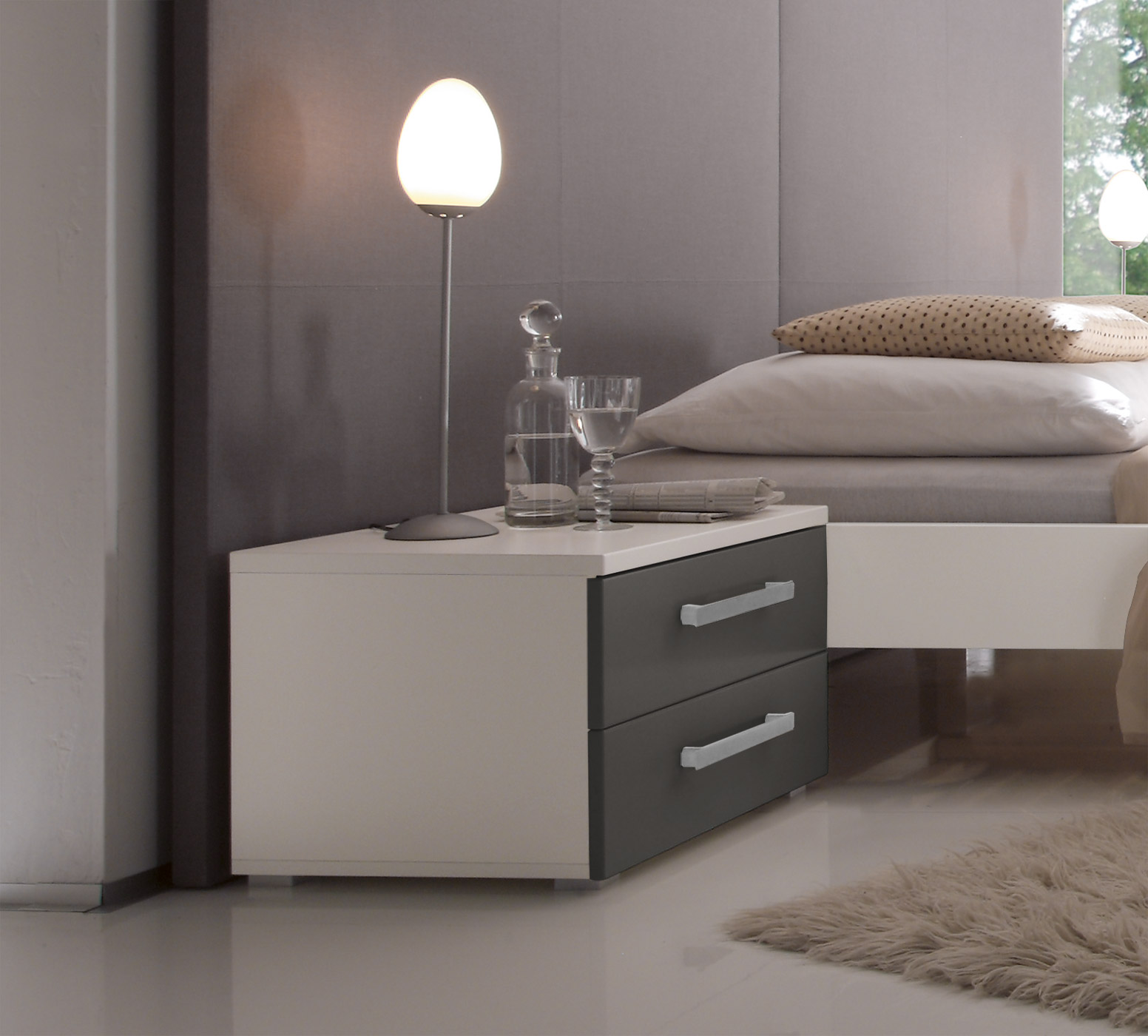 nachttisch mit mdf oberfl che kaufen aronia. Black Bedroom Furniture Sets. Home Design Ideas