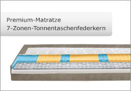 7-Zonen Premium Matratze mit Tonnentaschenfederkern