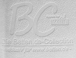 """Hochwertiger Viscoschaum-Topper Sirius Premium mit """"BC made by Malie""""-Bezug"""