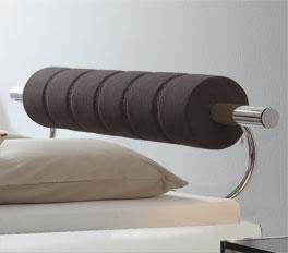 Designerbett Rocio mit braunem Kopfteil