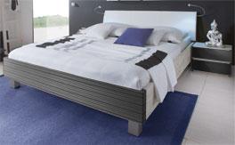 Doppelbett Salou aus Massivholz in Antrazit