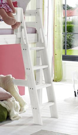 Abenteuer-Hochbett Kids Paradise für Mädchen mit schräg montierter Leiter