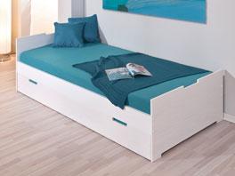 Ausziehbett Malte in Türkisblau als Kinderbett