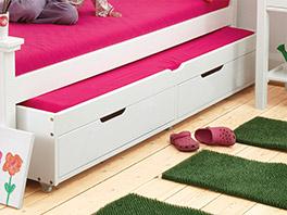 Auszieh-Kinderbett Kids Royalty mit geräumiger Bettschublade