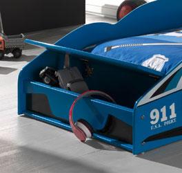 Autobett Blue Light mit praktischem Lagerplatz