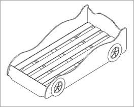 Autobett Dreamchaser inklusive Rolllattenrost