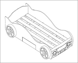 Autobett Drift inklusive Rolllattenrost