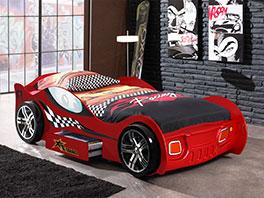 Autobett Drift rot mit Auto-Design