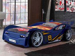 Modernes Autobett Spirit blau in 90x200 cm