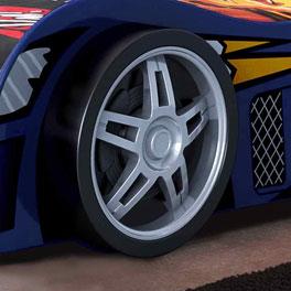 Reifen-Fuß vom Autobett Spirit blau