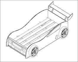 Autobett Spirit inklusive Rolllattenrost