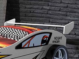Heckspoiler-Nachttisch vom Autobett Spirit weiß
