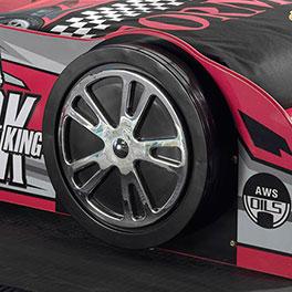 Autobett Sprint mit Alufelgen-Nachbildung