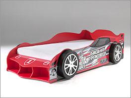 Autobett Sprint mit farblichem Aufdruck