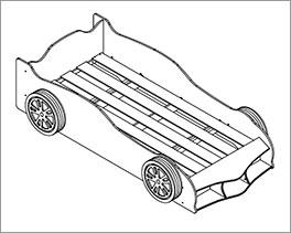 Autobett Sprint inklusive Rolllattenrost