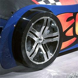 Autobett Tuning blau mit stabilem Fuß