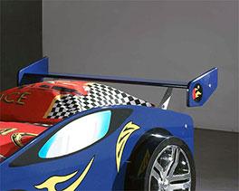 Autobett Tuning blau mit praktischer Ablagefläche