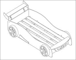 Autobett Tuning rot inklusive Lattenrost
