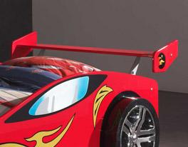 Autobett Tuning rot mit praktischer Ablagemöglichkeit am Kopfende