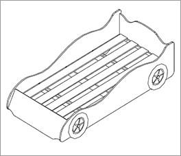 Grafik der Autobetten inklusive Einlege-Lattenrost