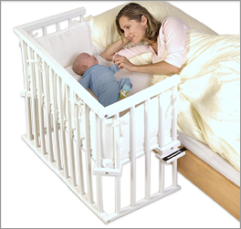 Beistellbett BabyBay Midi mit Nestchen Halterung