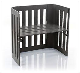 Babybay Trend in Buche grau