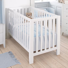 Babybett Kids Heaven in modernem Weiß