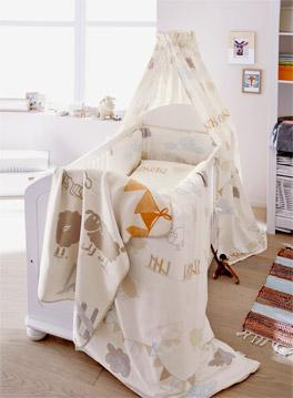 Babybett-Set s.Oliver Traumwelt aus 100% Baumwolle