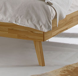 Bett Andros mit stabilen Bettbeinen
