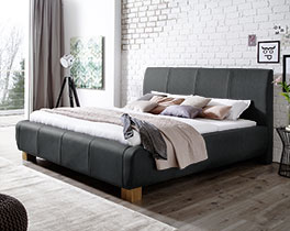 Modernes Bett Annaba mit Polster-Kopfteil