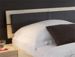 Bett Arezzo Kopteil mit optionalen Kissen