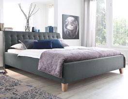 Stabiles Bett Batana in stilvollem Design