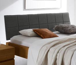 Kopfteil vom Bett Belbari aus anthrazitfarbenem Stoff