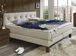 Bett Cantabria mit Boxspring-System für hohen Komfort