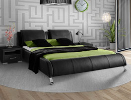 Hochwertiges Design-Doppelbett Coventry