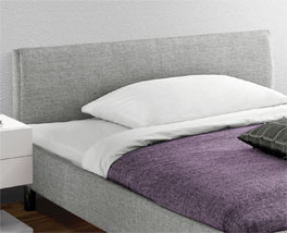 Bett Gravelines mit stoffbezogenem Kopfteil