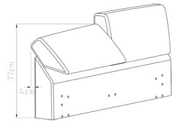 Die Unterschiede bei dem verstellbaren gepolsterten Kopfteil von Bett Oristano