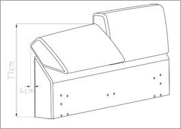 Bett mit unterschiedlich verstellbarem Kopfteilpolster