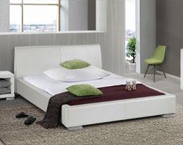 Preiswertes Bett Firenze aus modernem Kunstleder