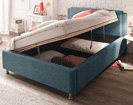 Bett La Marsa mit seitlich zu öffnendem Bettkasten