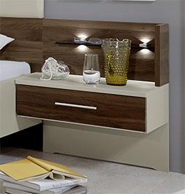 Bett Lucea inklusive Nachttisch